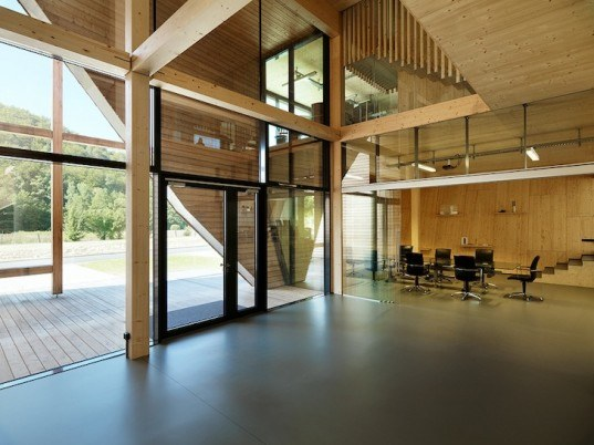 OFFICE OFF, heri&salli, austria, off grid, energy efficient architecture, sustainable architecture, e-car, community garden, austrian architecture, FOB, FOB office building, timber architecture, triple glazed windows, cross ventilation, solar panels
