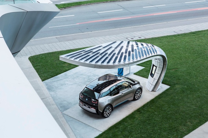 Point One S Bmw S First Solar Charging Point Brings Beautiful