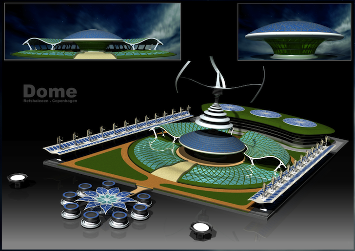 Project Dome Could Power Copenhagen Using Energy From the Sun, Wind, Water, and Biomass!
