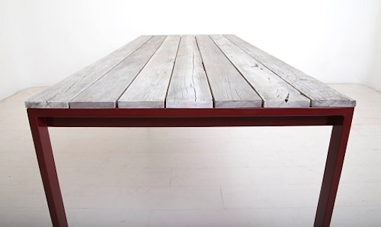 Uhuru Design's Snowfenced Reclaimed Table Features Beautifully Weathered Roadside Lumber from the American West