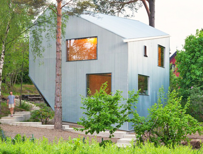 Asymmetrical Happy Cheap House Is A Quirky Prefab Retreat