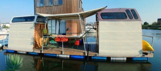 rockaway 39 s truck a float hotel features four floating eco. Black Bedroom Furniture Sets. Home Design Ideas