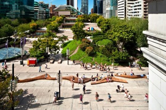 Urban Reef, VIVA Vancouver, vancouver, pop up park, urban seating, robson redux, pedestrian friendly, modular seating