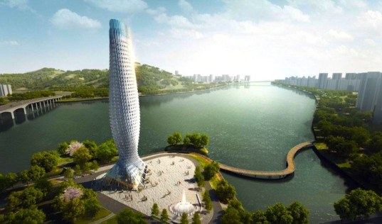 zhuhai observation tower, observation tower, zhuhai skyscraper, rmjm, rmjm shenzhen, doumen, Doumen tower, china tower competition, fish-like building, fish-inspired building, fishing jumping building, chinese architecture