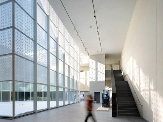 Aga Khan Museum, Aga Khan Foundation, Fumihiko Maki, Maki and Associates, museums, gallery, Toronto, Canada, Islamic culture, islam, white grantie, light, mashrabiya screen, public buildings, public spaces, art, cultural heritage, courtyard