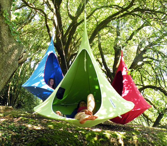 Colorful Hanging Cacoon Tents Are Dreamy Treetop Retreats