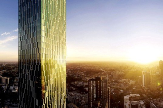 Victoria One: Melbourne's Tallest Residential Tower Will Feature a Botanic-Like Green Glass Facade