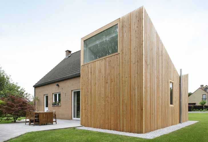 House And Wood Renovation By Adn Architectures In Belgium