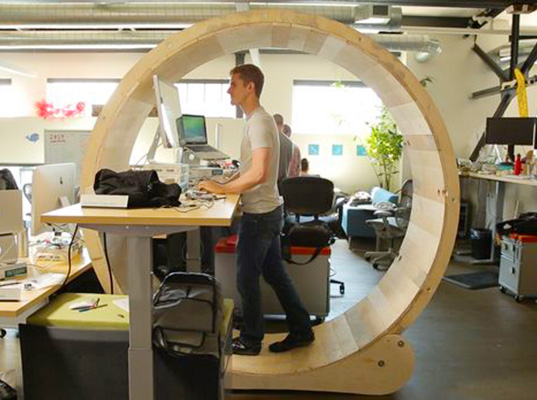 Diy Human Hamster Wheel Lets You Conquer The Office Rat