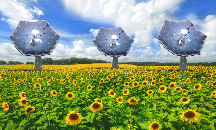 IBM's New Sunflower-Shaped Solar Concentrators Produce Energy AND Fresh Water!
