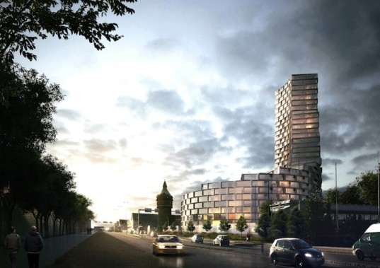la tour, aarhus, denmark, Kim Herforth Nielsen, 3XN, 3XN architects, danish architecture, semi circular tower, terraced architecture, residential, residential tower, affordable housing, high quality affordable housing, Jens Richard Pedersen,