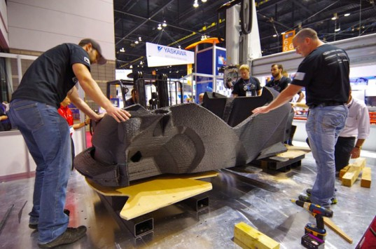 Local Motors, Local Motors Strati, Local Motors 3D printed car, 3D printer, 3D printed car, electric car, Renault, electric motor, Renault Twizy, International Manufacturing Technology Show, green car, green transportation