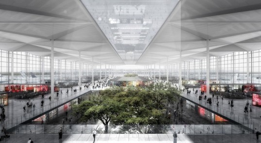 JAHN, mexico city, mexico city international airport, airport, airport design, sustainable airport, low-e coating, Francisco Gonzalez-Pulido, LOGUER, ADG, energy efficiency, PTFE, nanogel infill, natural wetland, rainwater collection, earth tubes