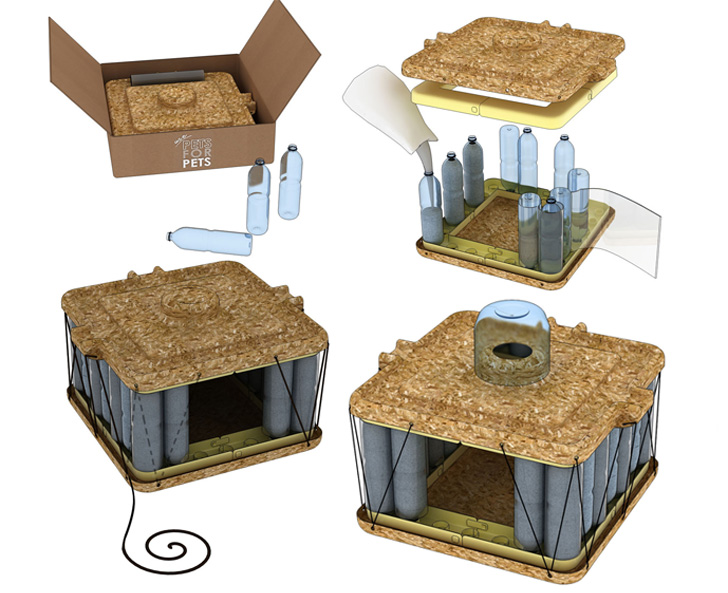 Diy Cat Shelter : The diy pet house is an animal shelter made from recycled