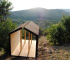 ESTIA is an Ethically Built Wooden Shelter that Overlooks Ancient Italian Ruins