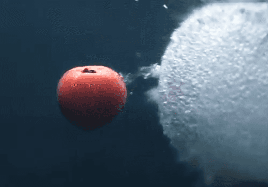 underwater, tomato, juice, juicing, juicer, shockwaves, vegetable, fruit, kagome