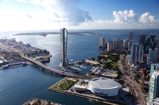 SkyRise Miami, Miami, development, Jeff Berkowitz, coastal development, Florida, Bayside Marketplace, observation tower, amusement park, thrill ride, skyscraper