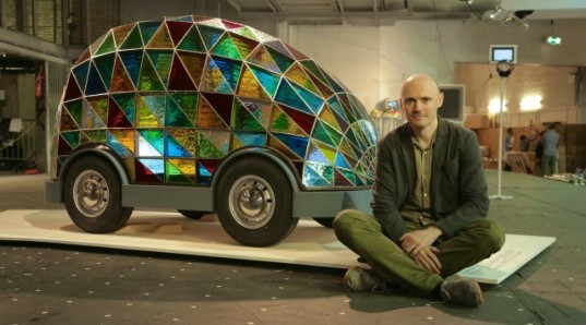 This Stained Glass Driver-Less Car Lets Riders Sleep on the Way to Their Destination