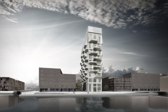 Dan Stubbergaard, copenhagen, COBE, silo, transformed silo, silo residential, silo housing, Nordhavn, copenhagen waterfront, post industrial architecture, Oresund, renovated silo,