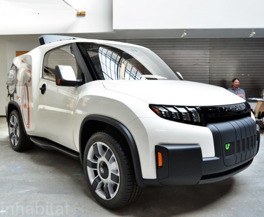 Toyota, Urban Utility Concept Car, toyota U2, diy, do it yourself, green vehicle, green transportation, sustainable transportation, make magazine, Calty Design Research, utility vehicle, urban utility vehicle, transforming car, green car