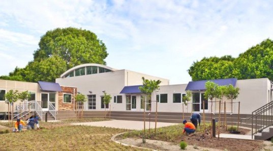 Waldorf School, shipping containers, eco-friendly school, prefab architecture, prefab schools, upcycled containers, reused building materials, Orange County prefab school