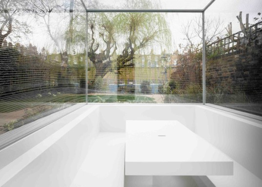 Gianni Botsford Architects, London invisible house, invisible architecture, transparent walls, transparent architecture, unframed glass, London architecture, house extension