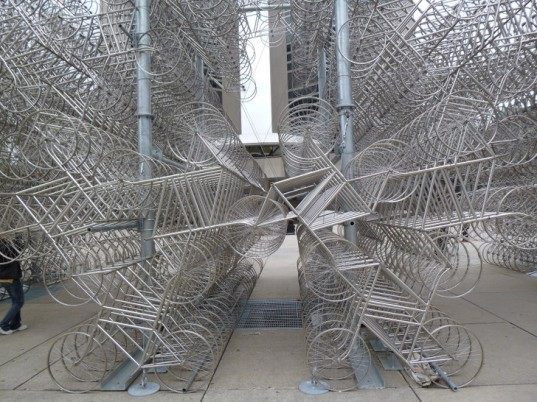 ai weiwei, installation art, forever bicycles, sculpture, venice biennale, architecture biennale,