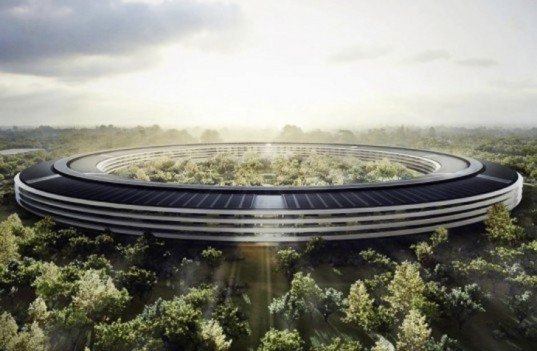 apple, apple campus, apple campus 2, tim cook, apple green features, apple sustainable campus, greenest building on the planet, climate week nyc, sustainable building, foster + partners, natural ventilation, renewable energy, solar array