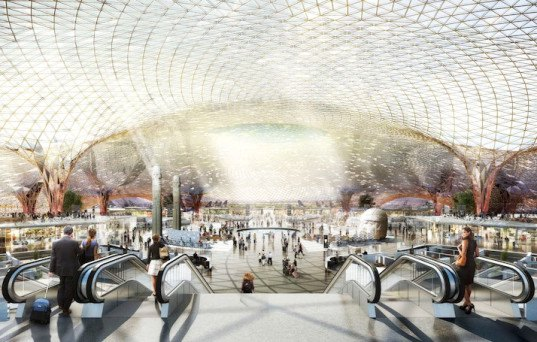 lord foster, foster + partners, mexico city, fernando romero enterprise, mexico city airport, mega airport, airport design, airports, sustainable airports, sustainable architecture, leed platinum, solar power, rainwater collection,
