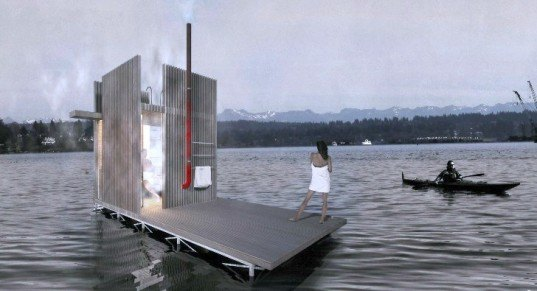 Floating Sauna, goCstudio, wa_sauna, wood-fired sauna, sauna kickstarter campaign, Jon Gentry, Aimée O'Carroll, seattle saunas, seattle architecture, seattle kickstarter campaigns