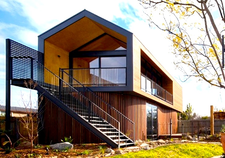 Light Filled Timber Artist S Studio Sits Comfortably In An