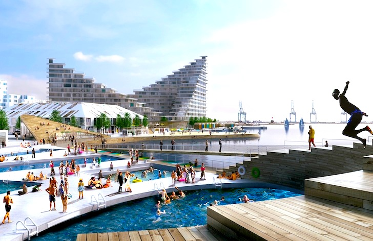 Big unveils designs for bsn7 mixed use neighborhood in for Waterfront deck designs