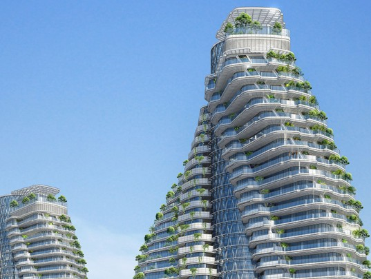 Vincent Callebaut, Citytrees DNA Towers, Citytrees, DNA design, green towers, energy-efficient towers, recycling, passivhaus, vertical city, vertical garden
