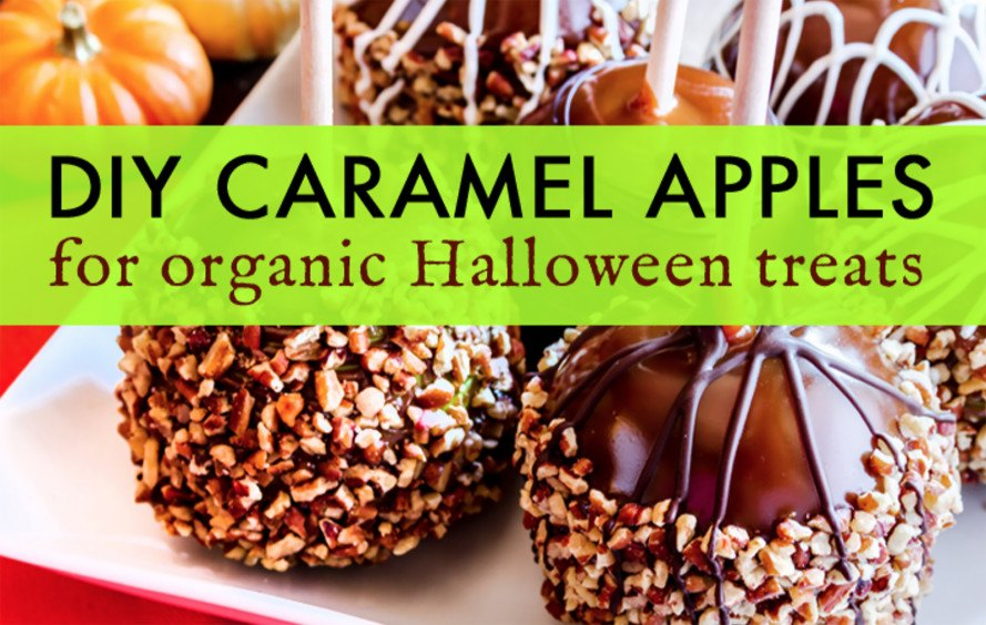 organic food, apples, caramel apples