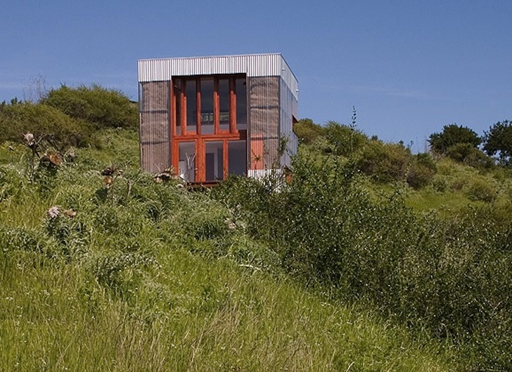 Tiny Green-Roofed Wood Cabin Boasts a Minimal Carbon Footprint in Chile