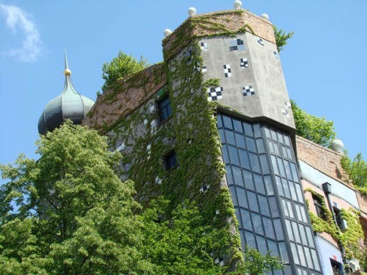 Friedensreich Hundertwasser, Neuffer, energy efficient windows, custom bespoken windows, green walls, living walls, vertical garden, rooftop garden, landscape architecture, biomimicry, vienna, austria, austrian architecture, Joseph Krawina architect, window rights
