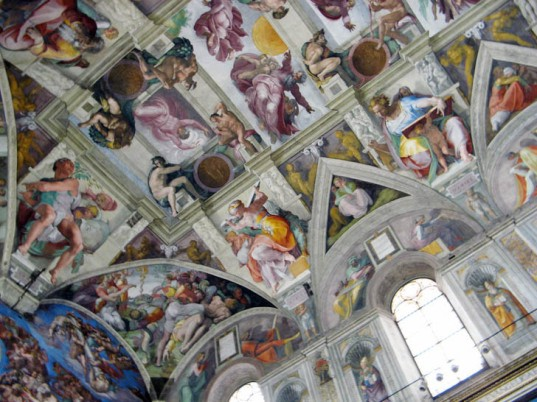 green design, eco design, sustainable design, Sistine Chapel LED lights, OSram, Michelangelo, Vatican City