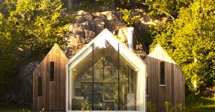 Rra S Micro Cluster Cabins Give Traditional Pitched Roofs