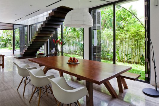 MM++ architects, home renovation, Thao dien House, green living walls, open plan layout, minimalistic living, Ho Chi Minh City, Vietnam