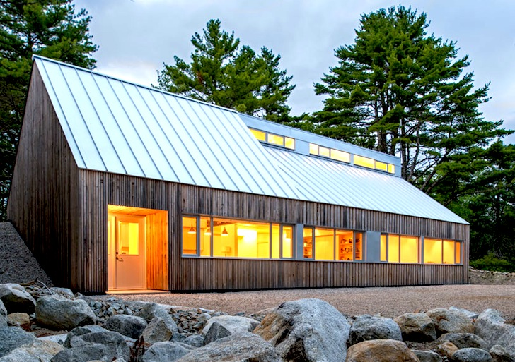 Super Artists Wooden Cabin Climbs Up A Hillside In Nova Scotia Home Remodeling Inspirations Genioncuboardxyz