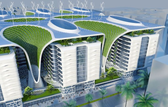 The Gate Residence, Vincent Callebaut Architecture, Vincent Callebaut, multi-use, ecosystem, coral reefs, Cairo, windcathers, solar cells, photovoltaics, geothermal energy, vertical garden, green architecture, renewable energy