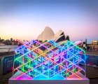 Mesmerizing Kaleido Wall 1.0 Turns Sydney Opera House into a Colorful Reflective Mosaic