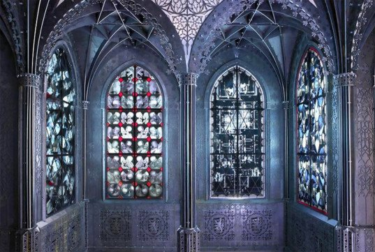Wim Delvoye's Creepy Stained Glass Windows Are Made From Recycled X-Rays
