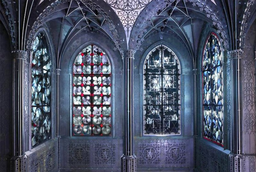 Wim Delvoyes Creepy Stained Glass Windows Are Made From Recycled X