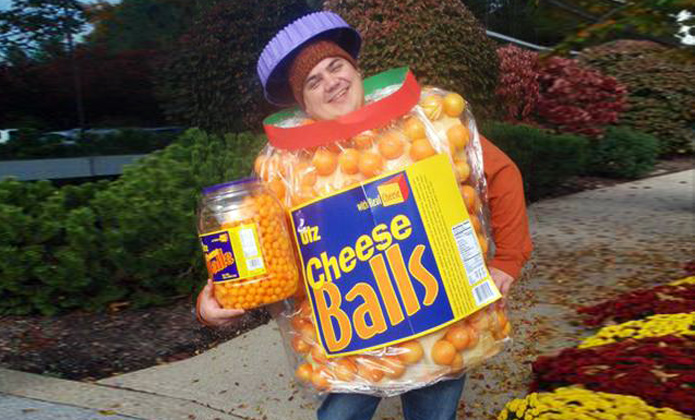 enter inhabitats green halloween costume contest for a chance to win a 848 vanmoof b6 bike barrel of cheese balls halloween costume by paul zak - Halloween Winning Costumes