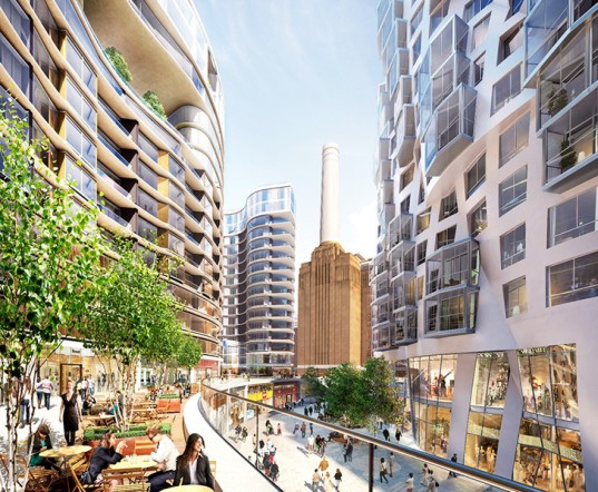 Fosters + Partners, Gehry Partners, Battersea Power Station, architecture, London architecture, architecture projects, urban design, Battersea Roof Gardens, Electric Boulevard, Prospect Place, London apartments