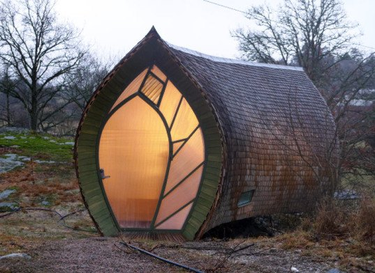 lantern-like homes, Cherry Tree House, tom hare, glowing homes, lantern-like architecture, Hus.Ett, Torsten Ottesjö, O2 Sustainability Treehouse, Dustin Fieder, 4Treehouse, Lukasz Kos, Lucky Drops, Yasuhiro Yamashita, Swamp Huts, Moskow Lin Architects, Writer's Studio, WSD Architecture