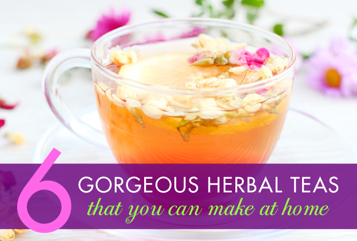 herbal teas how to make on your website