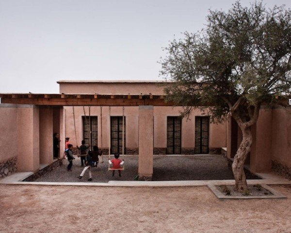 Bioclimatic, bioclimatic architecture, Dorian Vauzelle, Nicolas Coeckelberghs, BC architects, rammed earth, locally sourced materials, locally sourced stone, the Goodplanet foundation, united carbon action program, Morocco, Aknaibich, adobe walls, mud bricks