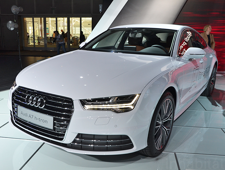 Audi Unveils A7 Sportback H Tron Quattro Hydrogen Car At The Los Angeles Auto Show